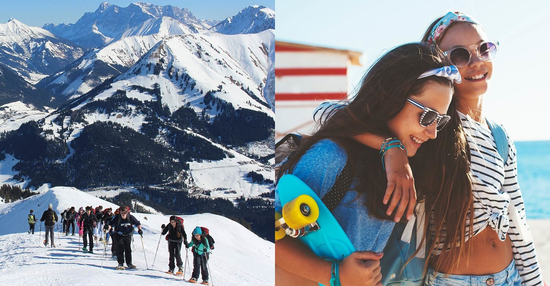 Горы или пляж: где учить язык на зимних каникулах?